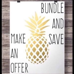 Open to offer. Please bundle to save